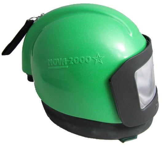 Strahlhelm NOVA 2000 mit NYLON-Schutzcape und Regelventil_