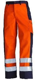 High visibility Bundhose Orange/Marineblau C54_