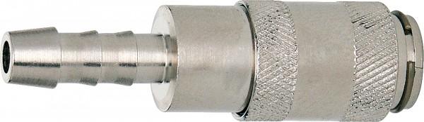 Standard-Schnellschlusskupplung DN 2,7 mit Schlauchtülle_