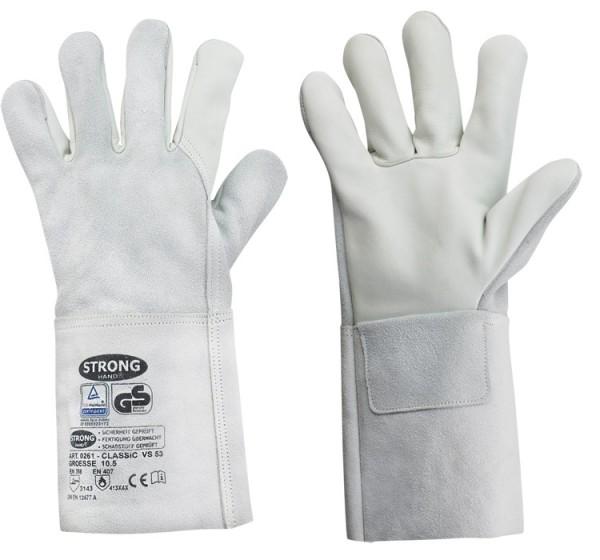 Arbeitsschutz-Handschuhe aus Rindleder, mit 35 cm Stulpe_