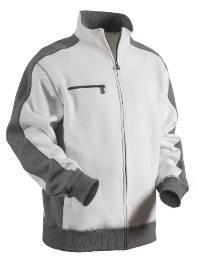 Pulloverjacke Weiß/Grau L_