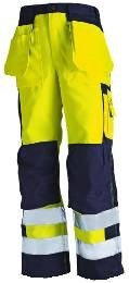 High vis Bundhose Gelb/Marineblau C52_