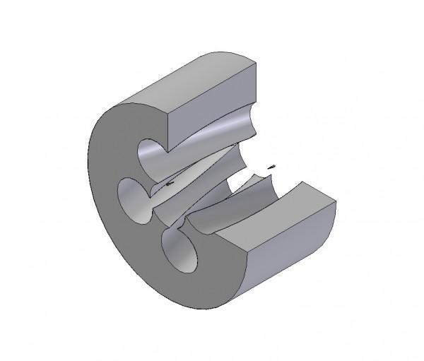 Wirbelstrahl-Wolframcarbid-Düse mit Drall ø 27 mm x 15 mm_