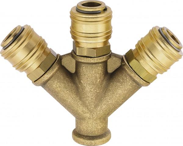 Standard-Schnellschlusskupplung DN 7,2 - 4-Wege-Stück mit_