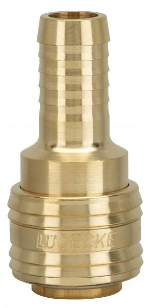 Standard-Schnellschlusskupplung DN 7,2 mit Schlauchtülle_