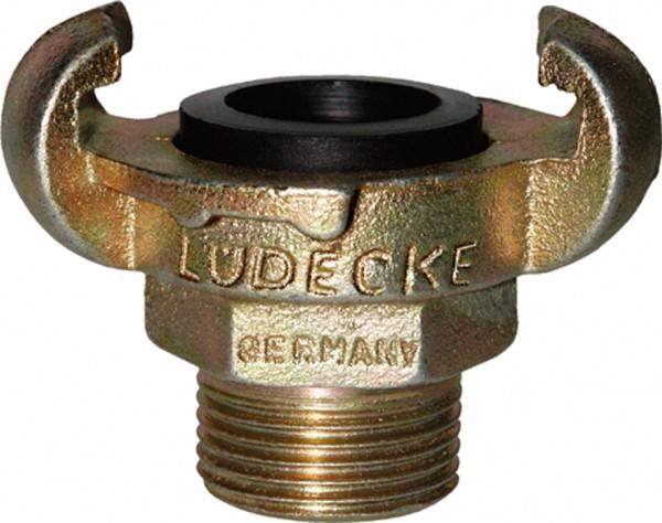 """Klauenkupplung (Druckluft) DIN 3489 mit Außengewinde  NPT 1""""_"""