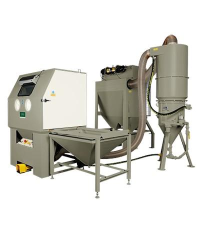 BNP-65 Druckstrahlkabine mit  SCW-2040 (100l), 900 CFM _