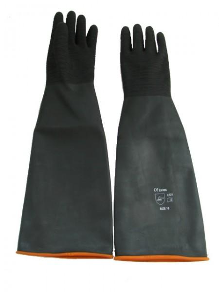 Sandstrahl-Handschuhe Latex, 600 mm lang mit enger Stulpe_